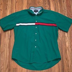 Vintage Tommy Hilfiger Short Sleeve Button Up